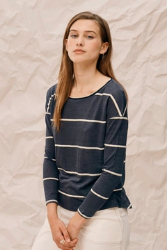 Charli Carbon Stripe Top - Product List Image
