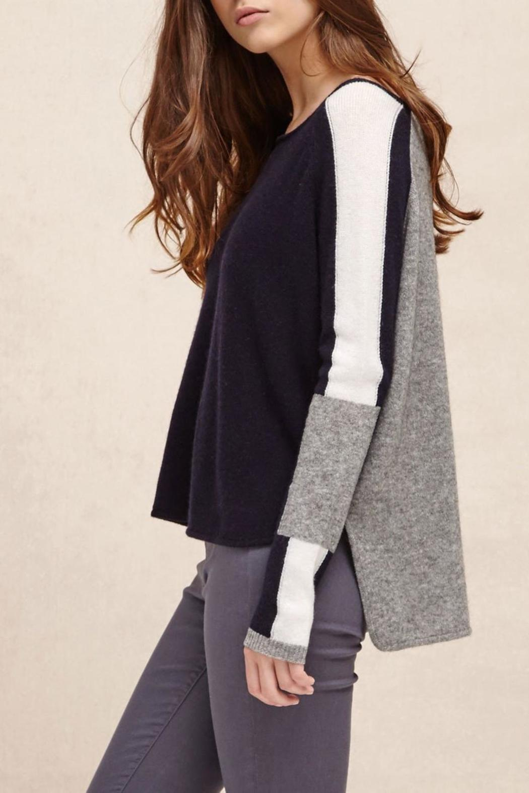 Charli Intarsia Wool Pullover - Side Cropped Image