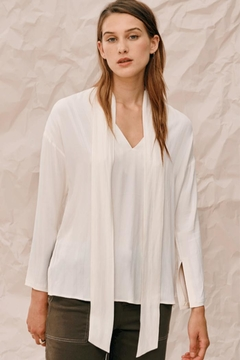 Charli Ivory Tie Blouse - Product List Image