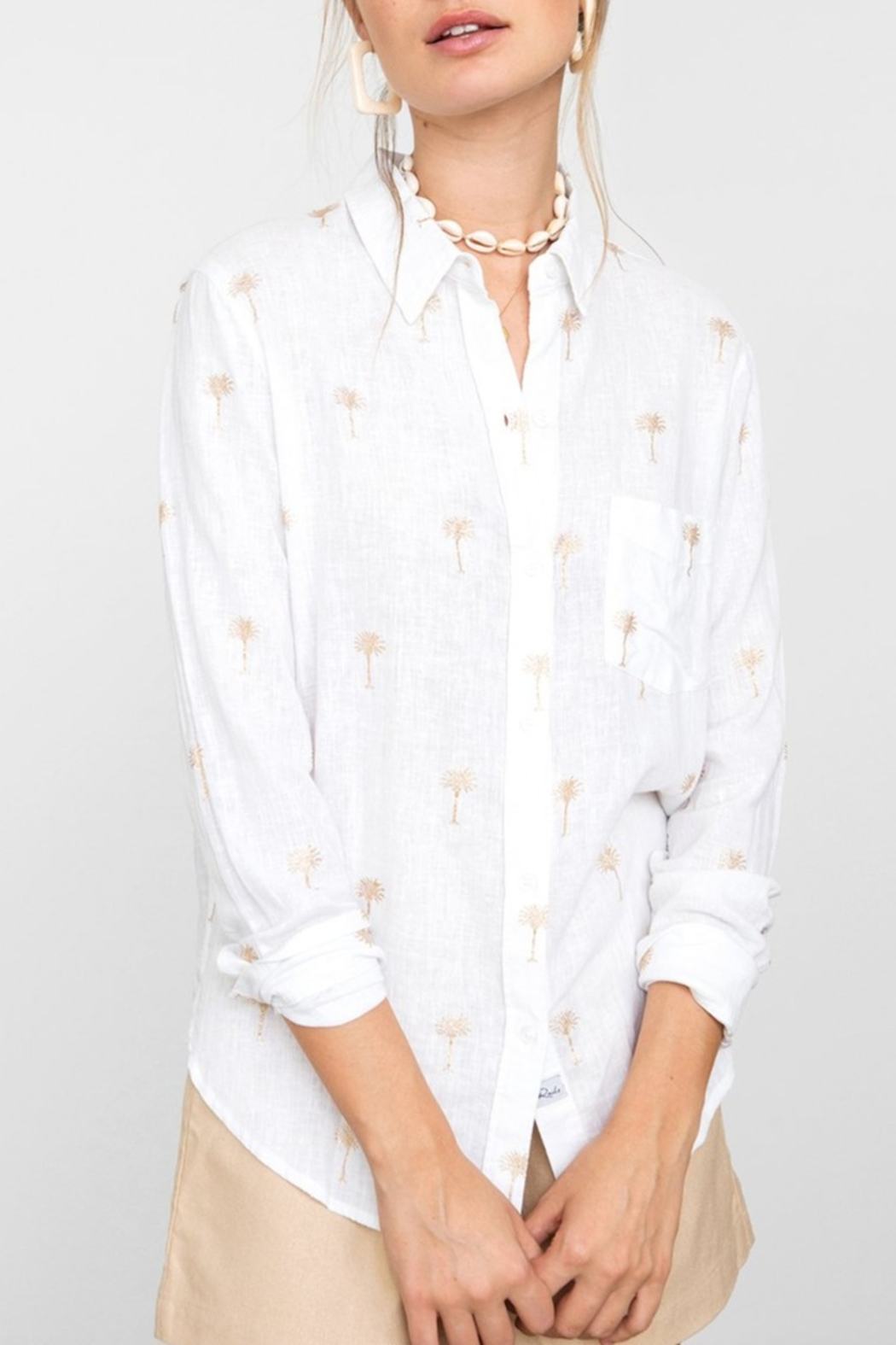 Rails Charli Shirt Palms - Front Cropped Image