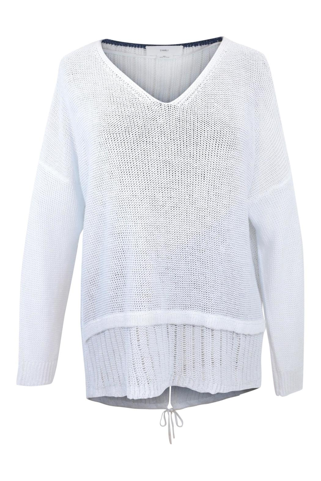 Charli White Linen Sweater - Main Image