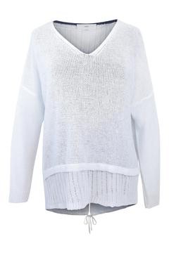 Charli White Linen Sweater - Product List Image