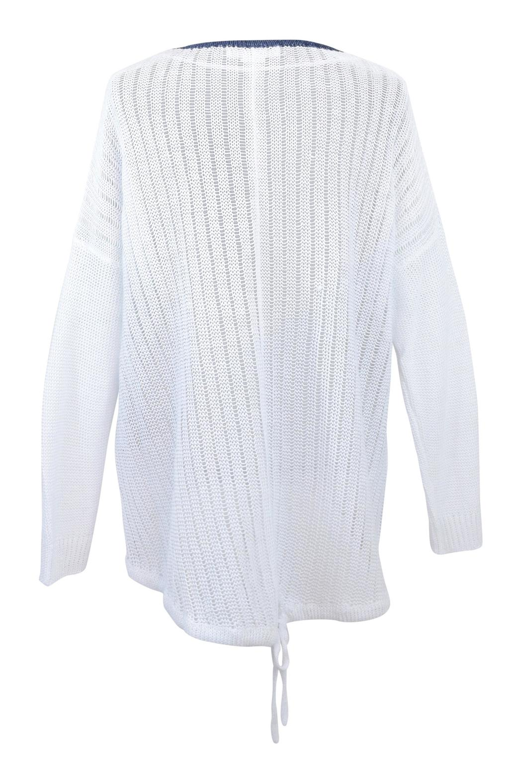 Charli White Linen Sweater - Front Full Image