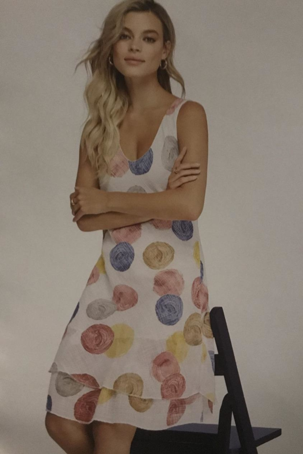Charlie B. Cotton Sun Dress - Front Cropped Image