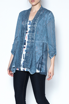 Shoptiques Product: Lace Trim Cardigan