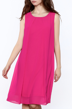 Shoptiques Product: Hot Pink Chiffon Dress