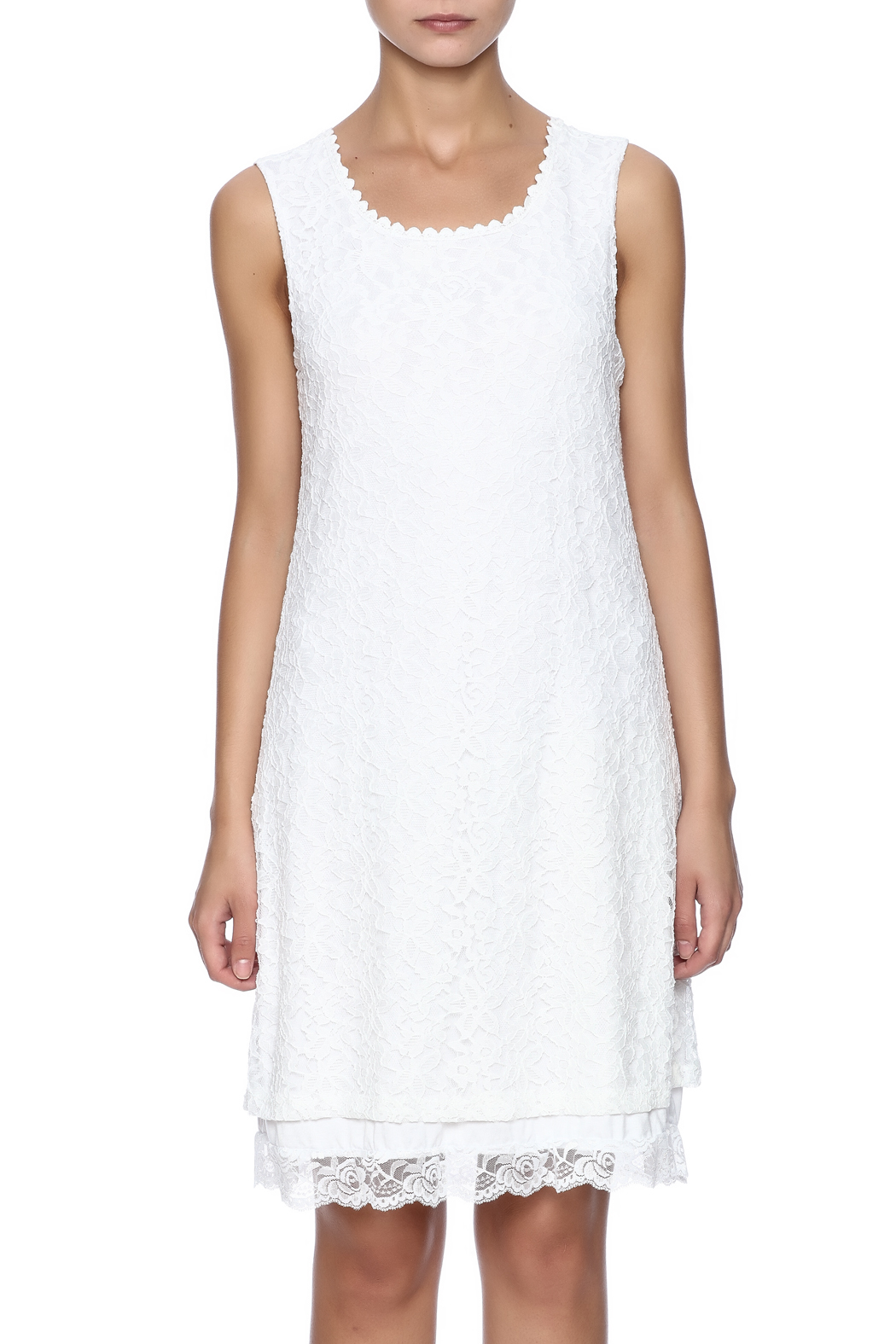 Charlie B. White Lace Dress - Side Cropped Image