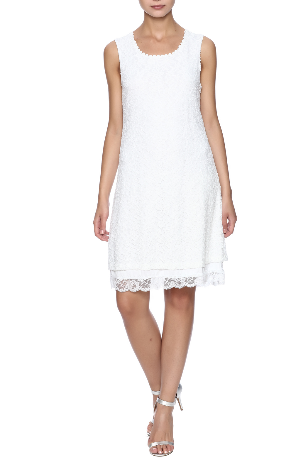 Charlie B. White Lace Dress - Front Full Image