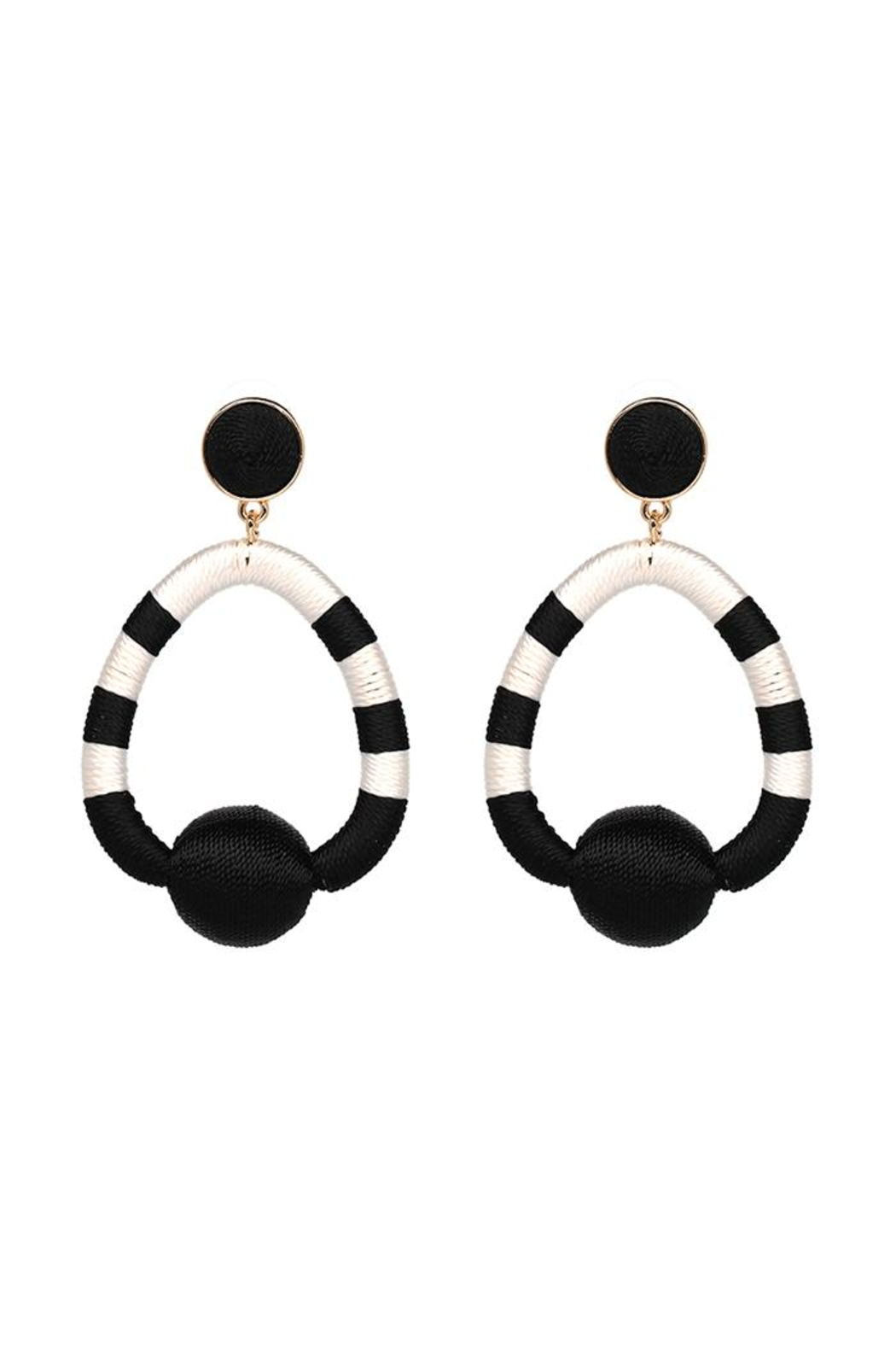 Madison Avenue Accessories Charlie Black Earring - Main Image