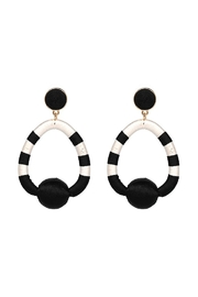 Madison Avenue Accessories Charlie Black Earring - Front cropped