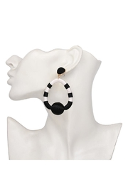Madison Avenue Accessories Charlie Black Earring - Front full body