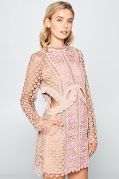 Shoptiques Product: Charlie Blush-Crochet Dress