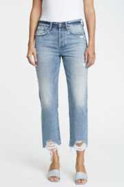 Pistola Charlie High Rise Straight in Blue Skies - Front cropped