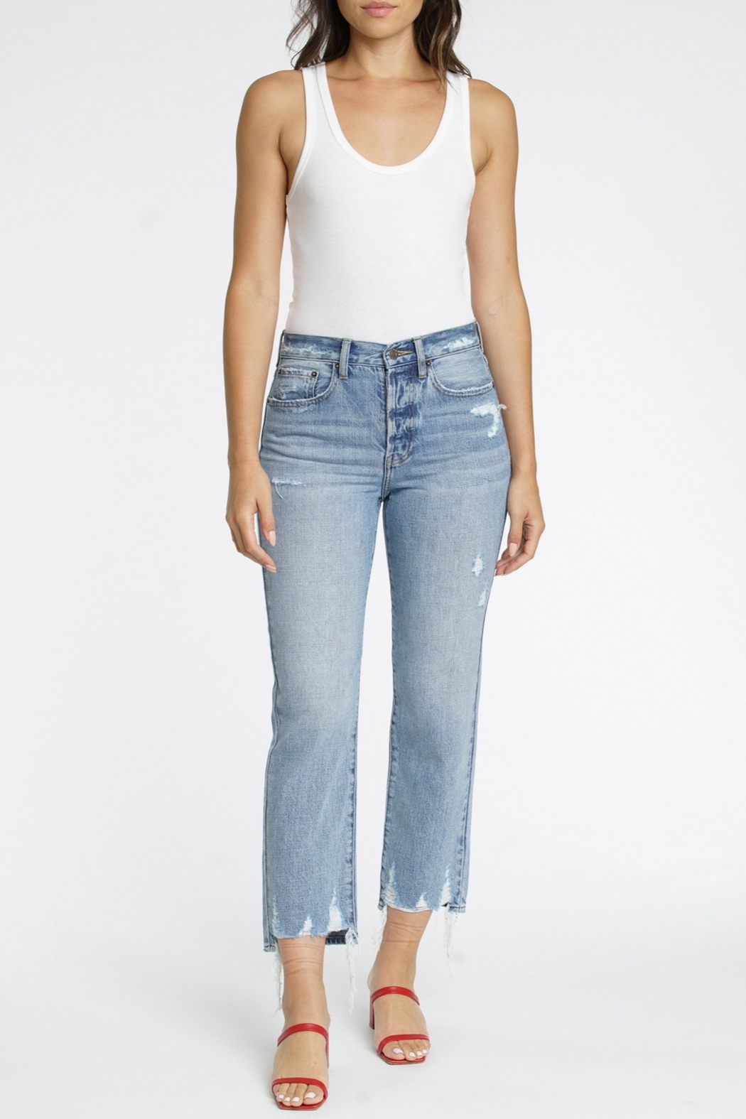 Pistola Charlie High Rise Straight Leg Jean - Front Cropped Image