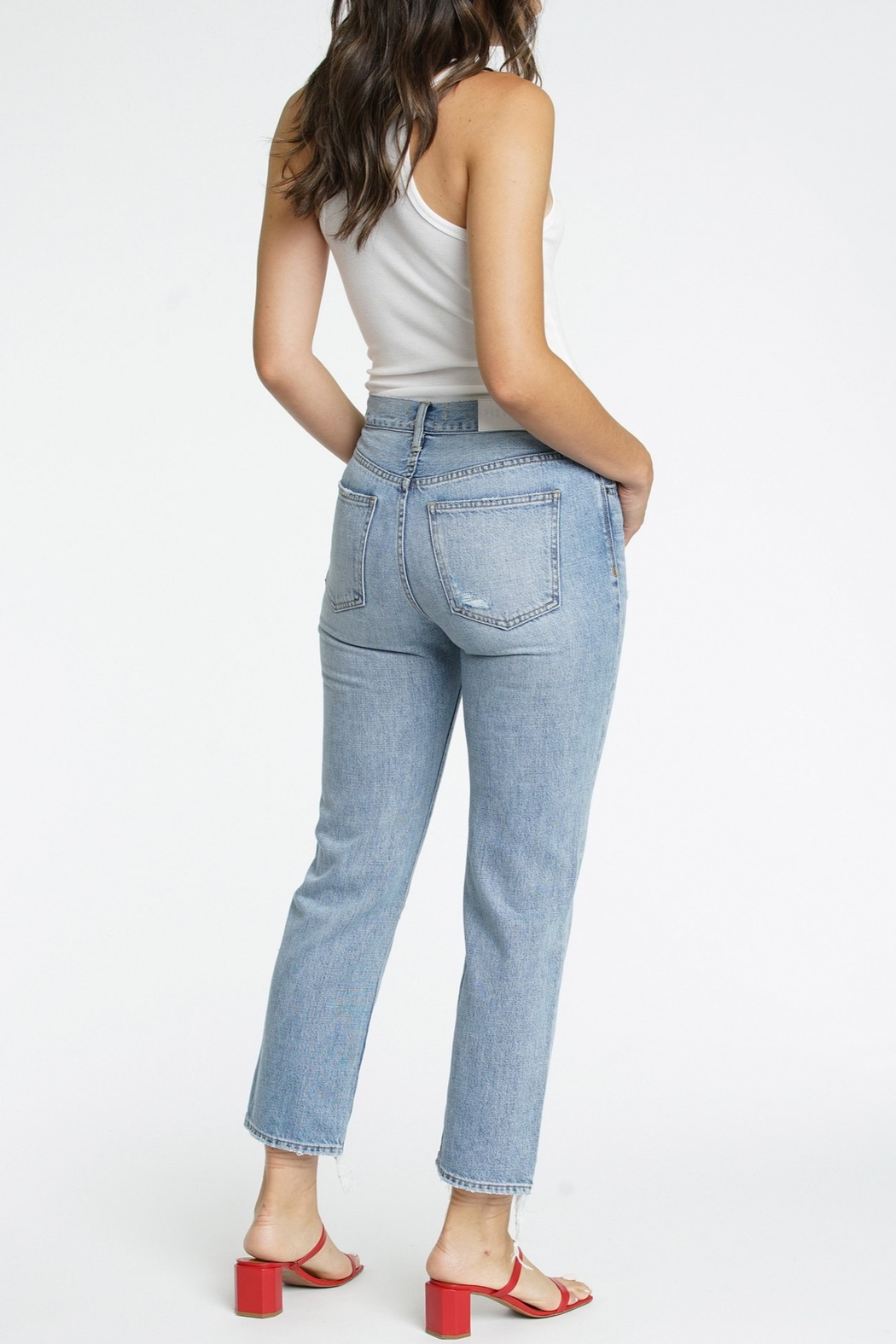 Pistola Charlie High Rise Straight Leg Jean - Side Cropped Image