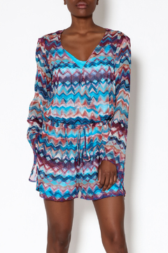 Charlie Jade Chevron Pattern Romper - Product List Image