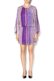 Shoptiques Product: Sheer Sleeve Mini Dress - Front full body