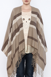 Charlie Paige Beige Stripe Cape - Product Mini Image