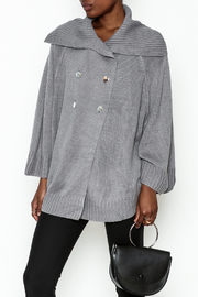 Charlie Paige Double Breasted Cardigan - Front cropped