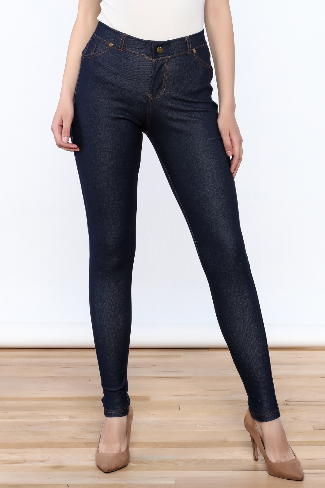 341d3a36454d33 Charlie Paige Faux Denim Leggings from New York by Chandeliers ...