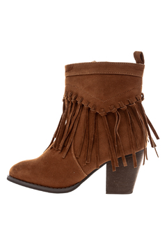 Charlie Paige Fringe Zippered Bootie - Product List Image