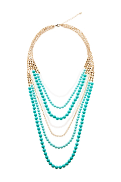 Shoptiques Product: Gold Beaded Necklace