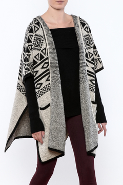 Shoptiques Product: Hooded Tribal Wrap