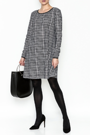Charlie Paige Houndstooth Check Dress - Side cropped