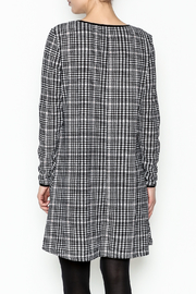 Charlie Paige Houndstooth Check Dress - Back cropped
