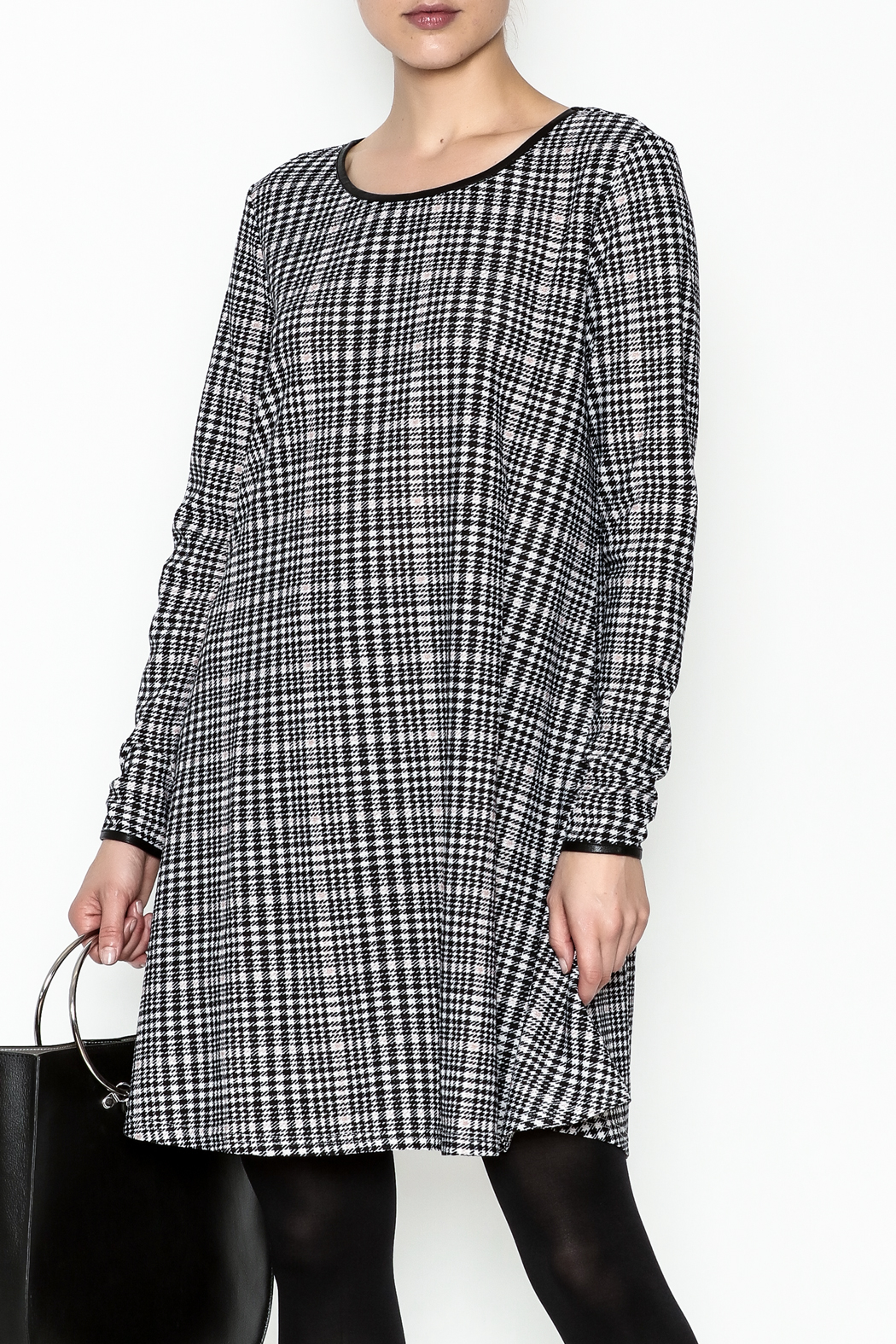 Charlie Paige Houndstooth Check Dress - Main Image