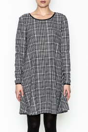 Charlie Paige Houndstooth Check Dress - Front full body