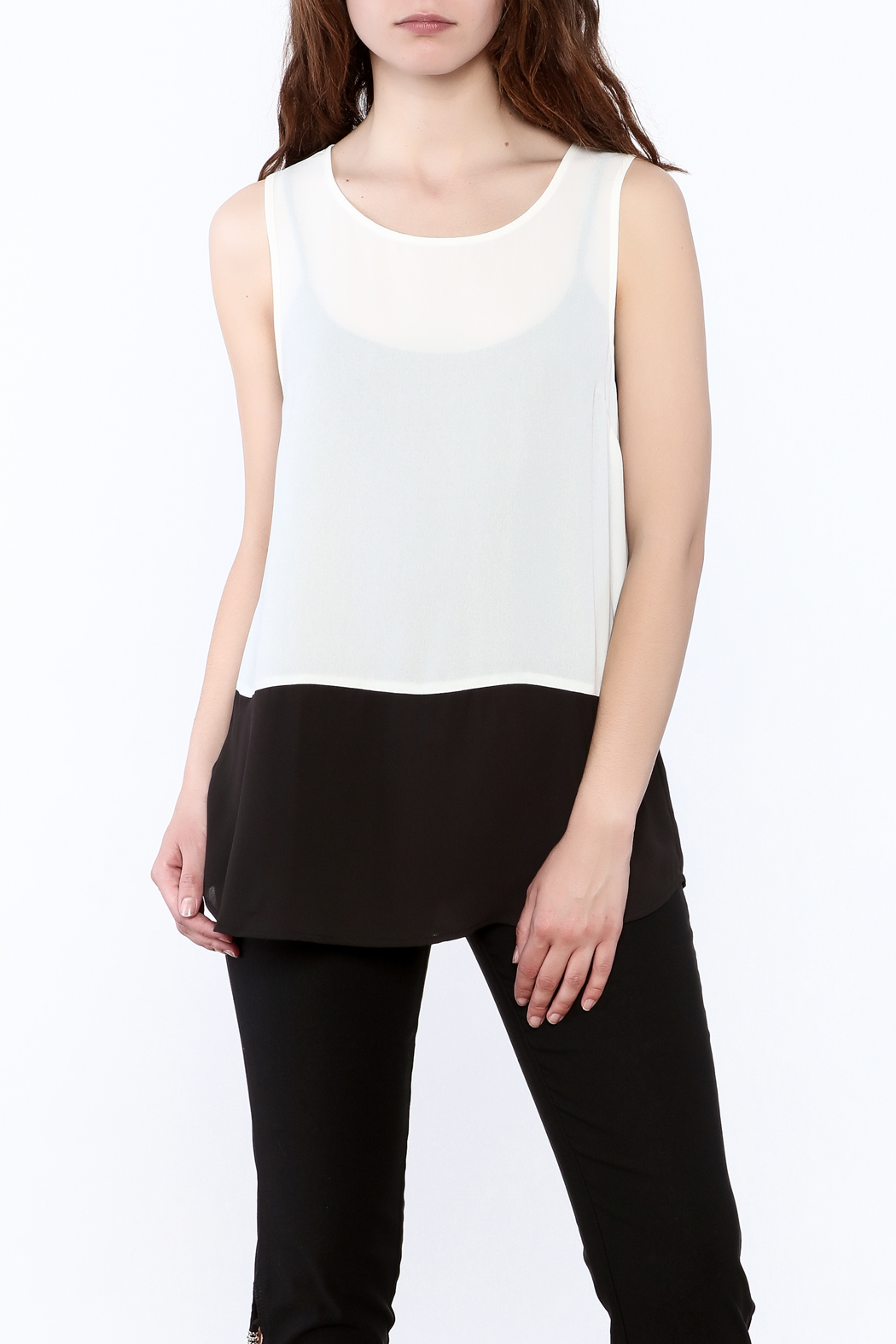 Charlie Paige Loose Fit Chiffon Top - Main Image