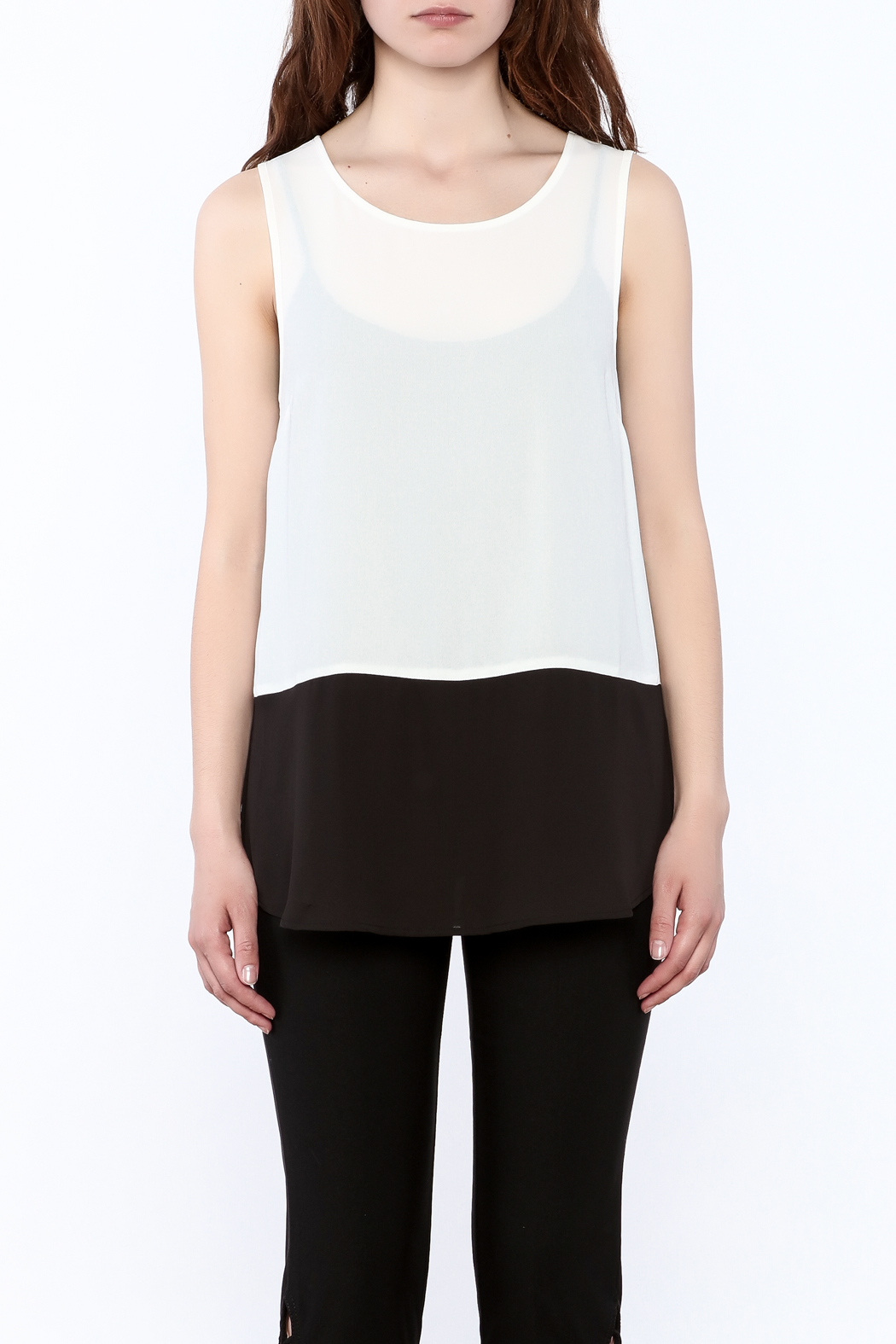 Charlie Paige Loose Fit Chiffon Top - Side Cropped Image