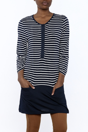 Charlie Paige Nautical Stripe Tunic Top - Product Mini Image