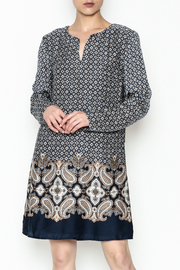 Charlie Paige Paisley Border Dress - Front cropped