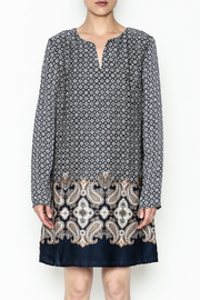 Charlie Paige Paisley Border Dress - Front full body