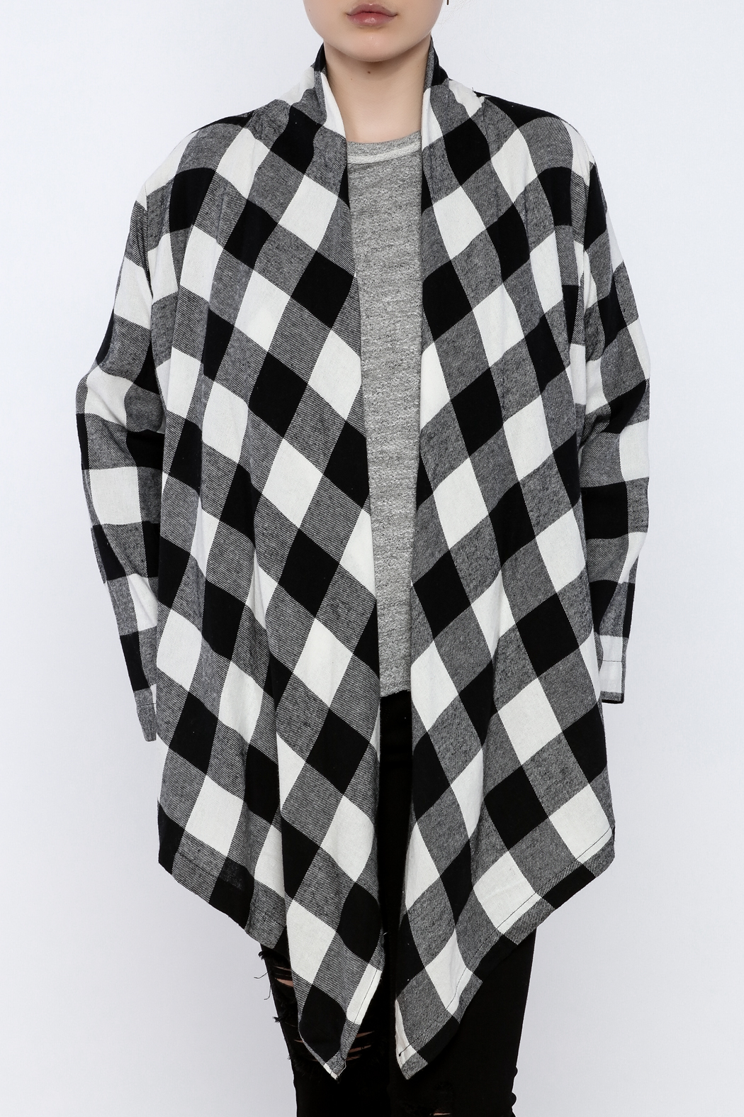 Charlie Paige Plaid Flannel Cardigan - Main Image
