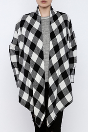 Charlie Paige Plaid Flannel Cardigan - Front cropped