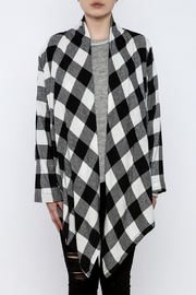 Charlie Paige Plaid Flannel Cardigan - Side cropped