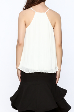 Charlie Paige Classy White Pleated Top - Alternate List Image