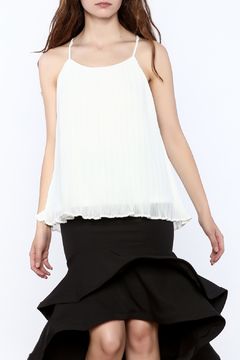 Charlie Paige Classy White Pleated Top - Product List Image