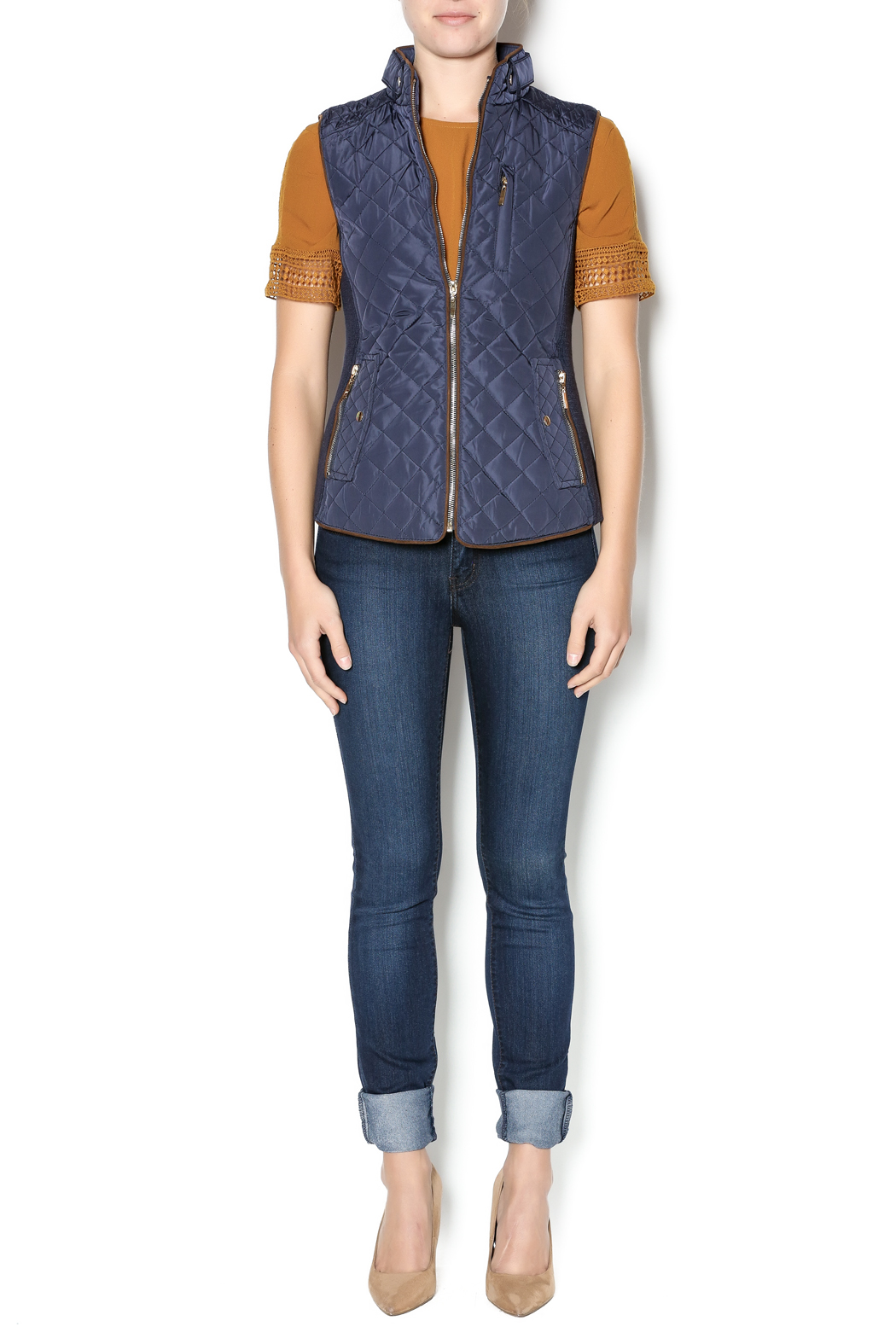 Charlie Paige Quilted Vest From Massachusetts By Lately