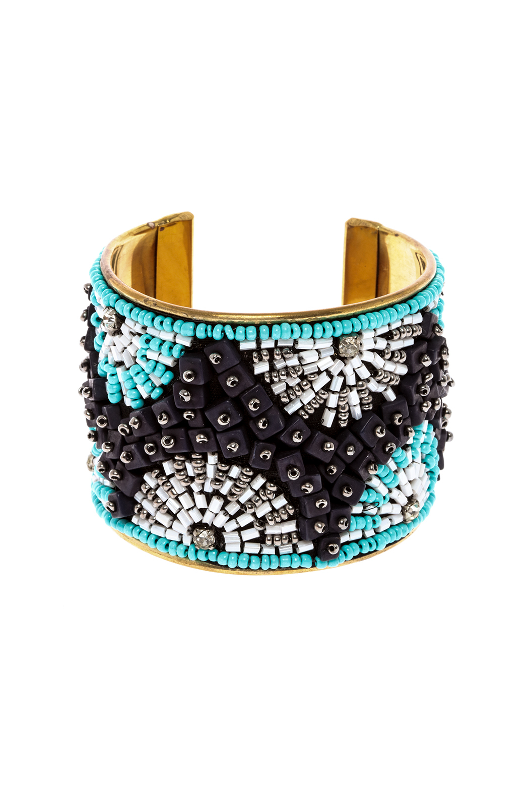 Charlie Paige Rhinestone Cuff Bracelet - Front Cropped Image