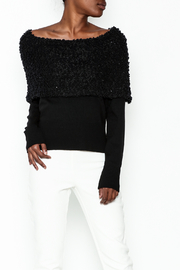 Charlie Paige Sparkle Collar Sweater - Product Mini Image
