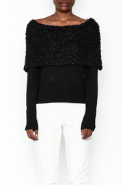 Charlie Paige Sparkle Collar Sweater - Front full body