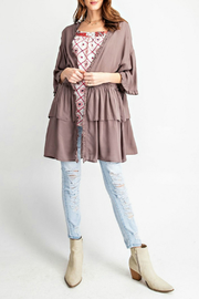 easel Charlie Ruffle Cardigan - Product Mini Image