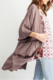 easel Charlie ruffle cardigan - Front full body