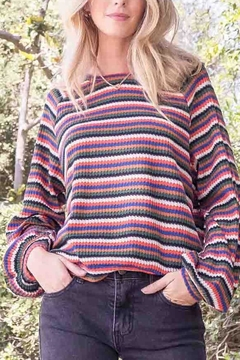 Blu Pepper Charlie Striped Top - Product List Image