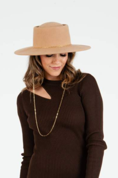 Lucca Charlie Wool & Chain Boater Hat - Alternate List Image