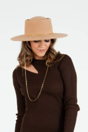 Lucca Charlie Wool & Chain Boater Hat - Product Mini Image